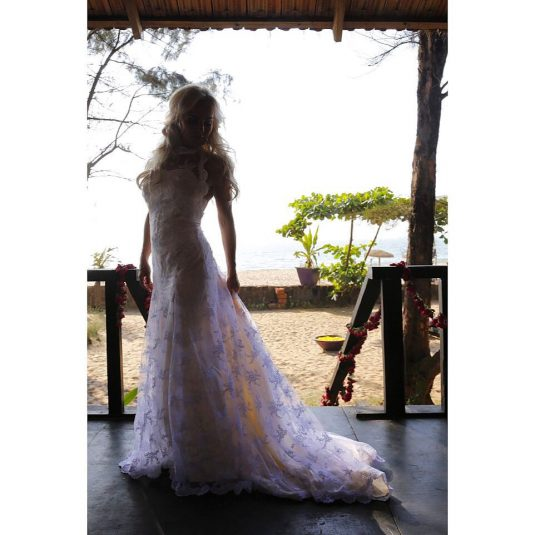 Tess Merkel wearing Julle Design wedding dress