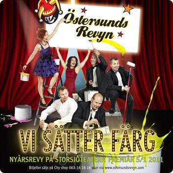 2011 med revypremiär på Östersundsrevyn