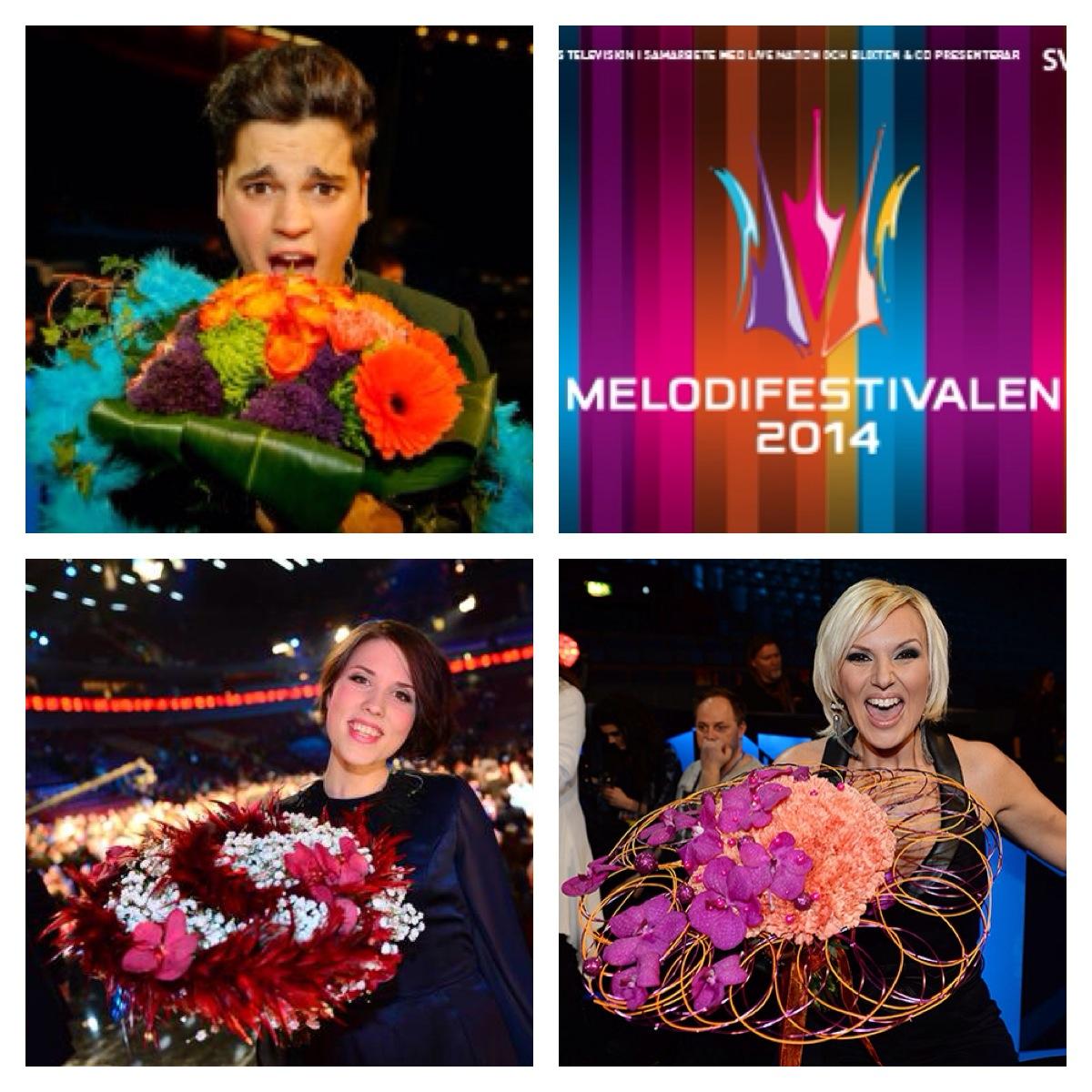 Melodifestivalen Sanna Nielsen, Oscar Zia, Ellen Benediktson